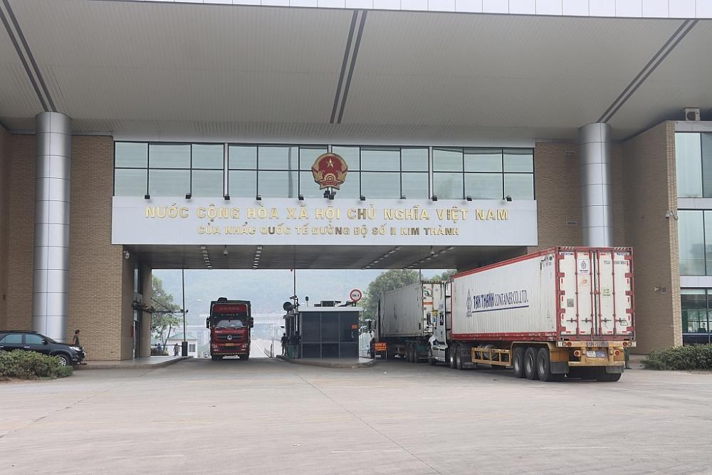 Chi cục Hải quan cửa khẩu quốc tế Lào Cai đảm bảo thông quan thông suốt 365 ngày/năm. Ảnh: T.Bình