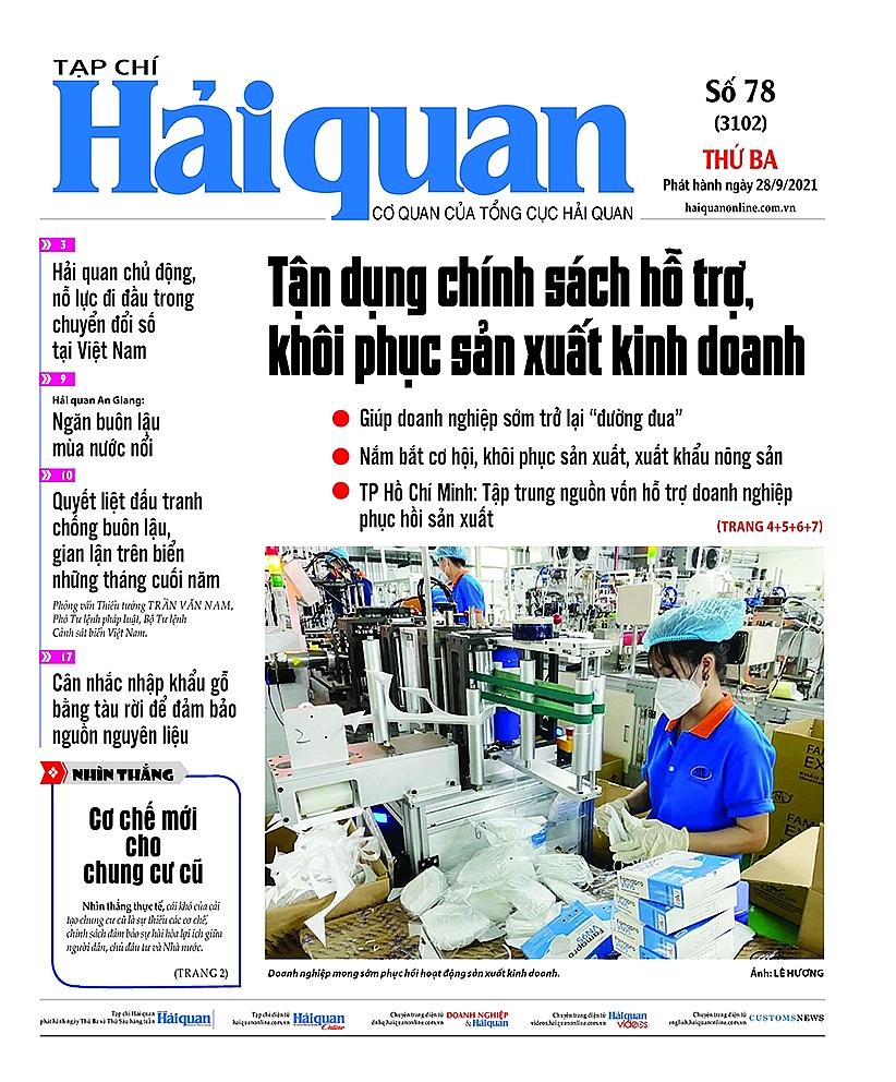 Những tin, bài hấp dẫn trên Tạp chí Hải quan số 78 phát hành ngày 28/9/2021