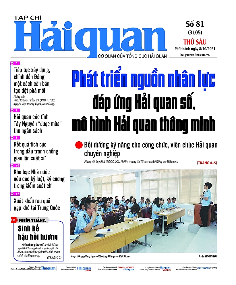Những tin, bài hấp dẫn trên Tạp chí Hải quan số 81 phát hành ngày 8/10/2021