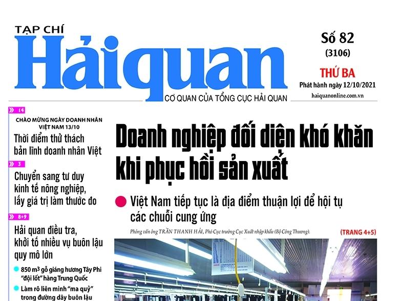 Những tin, bài hấp dẫn trên Tạp chí Hải quan số 82 phát hành ngày 12/10/2021