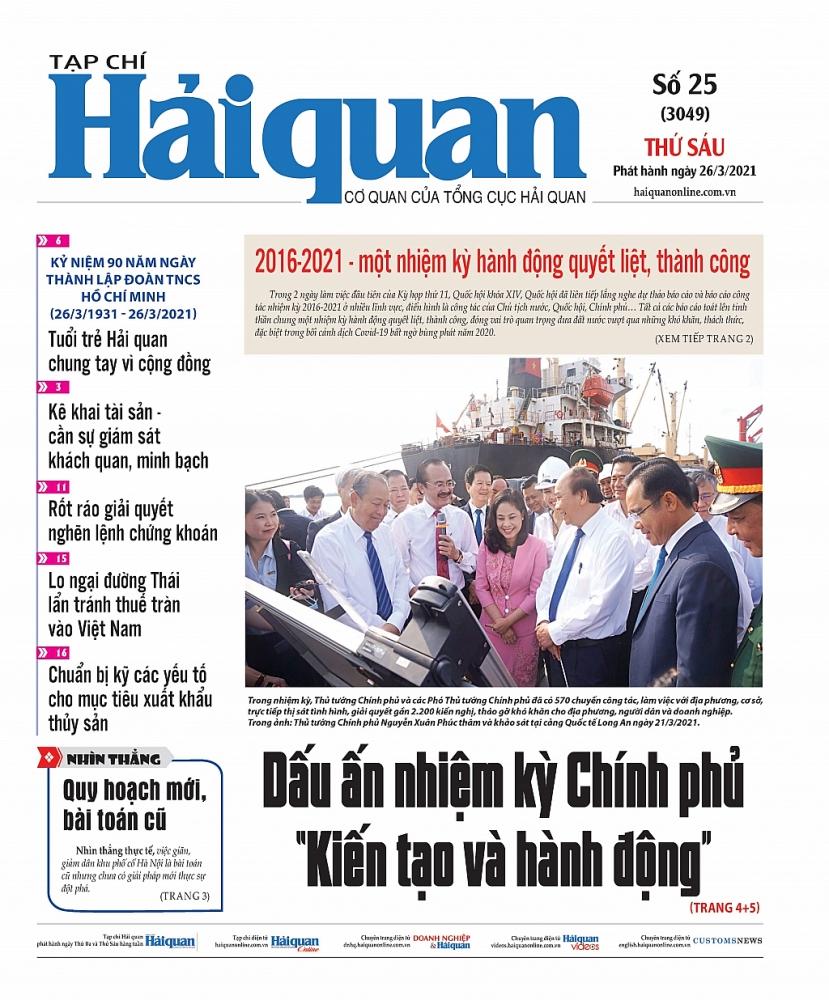 Những tin, bài hấp dẫn trên Tạp chí Hải quan số 25 phát hành ngày 26/3/2021