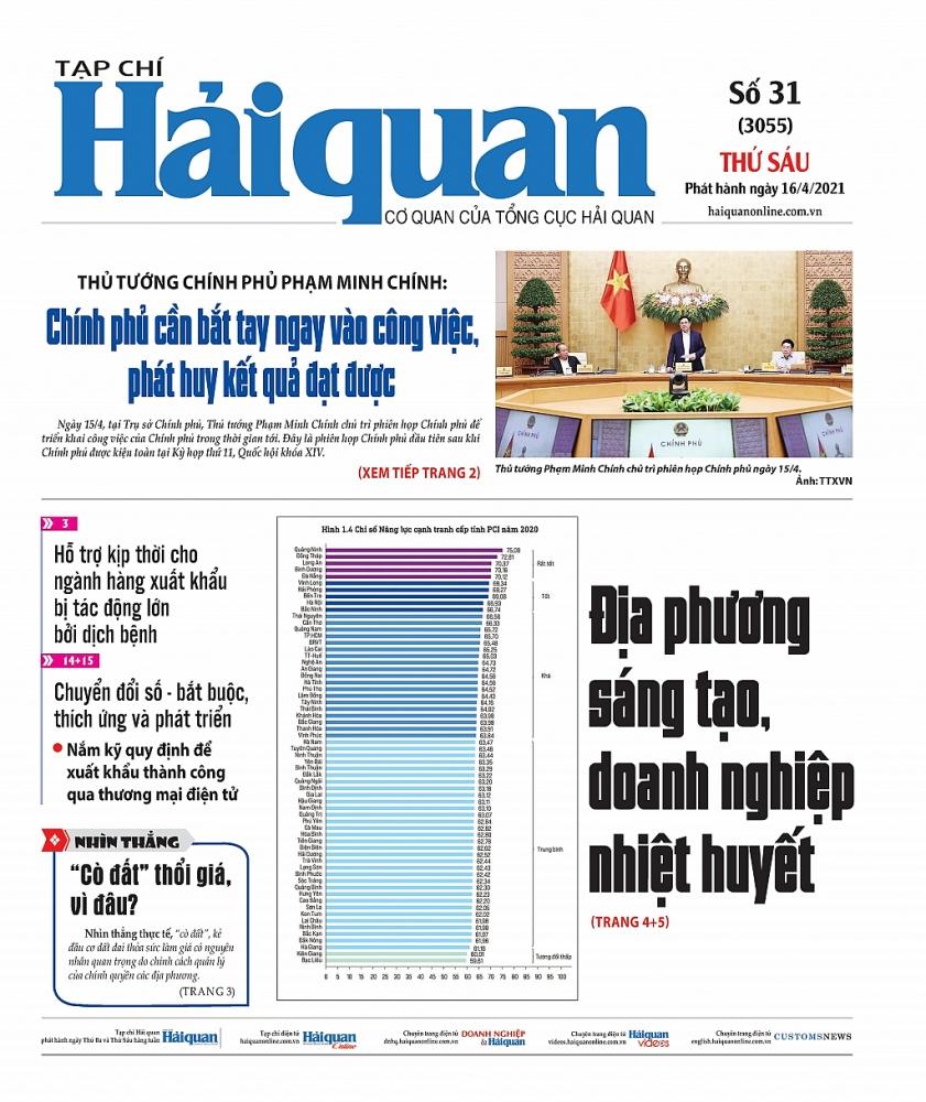 Những tin, bài hấp dẫn trên Tạp chí Hải quan số 31 phát hành ngày 16/4/2021