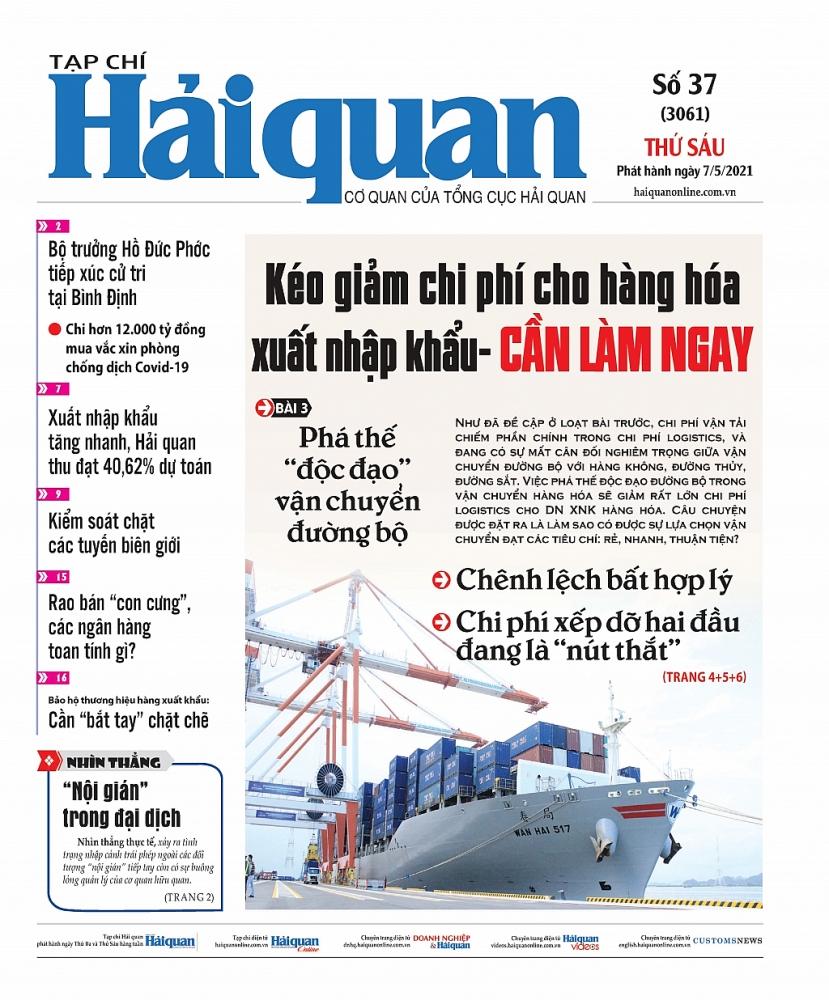Những tin, bài hấp dẫn trên Tạp chí Hải quan số 37 phát hành ngày 7/5/2021