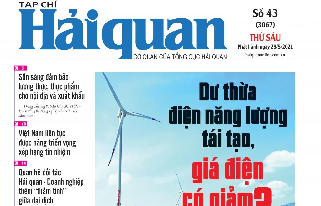 Những tin, bài hấp dẫn trên Tạp chí Hải quan số 43 phát hành ngày 28/5/2021
