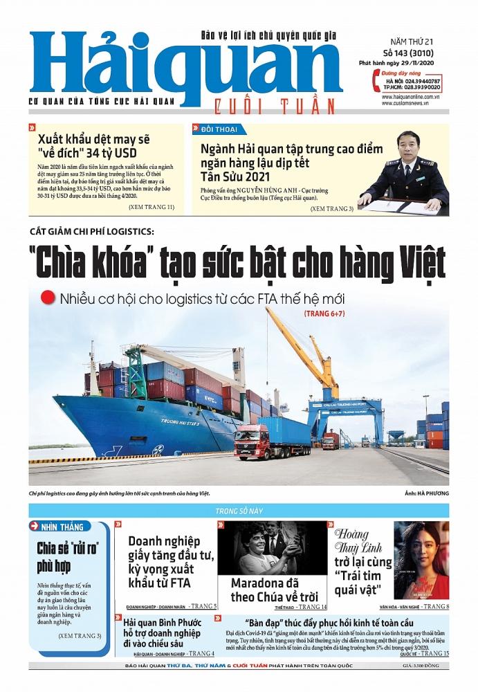 Những tin, bài hấp dẫn trên Báo Hải quan số 143 phát hành ngày 29/11/2020