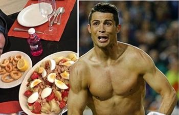 Kinh ngạc với chế độ ăn ngủ hàng ngày của Ronaldo