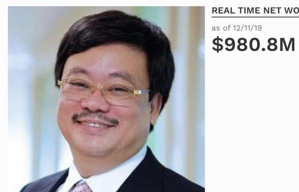 Chủ tịch Tập đoàn Masan rời danh sách tỷ phú