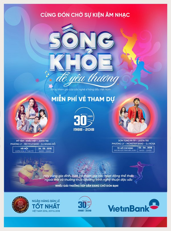 song khoe de yeu thuong su kien am nhac bom tan dau he 2018