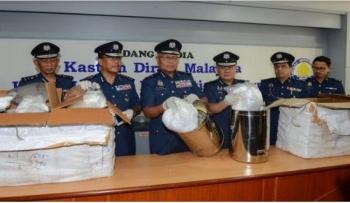 25 kg ma túy đá trong những bình nước bằng thép không gỉ