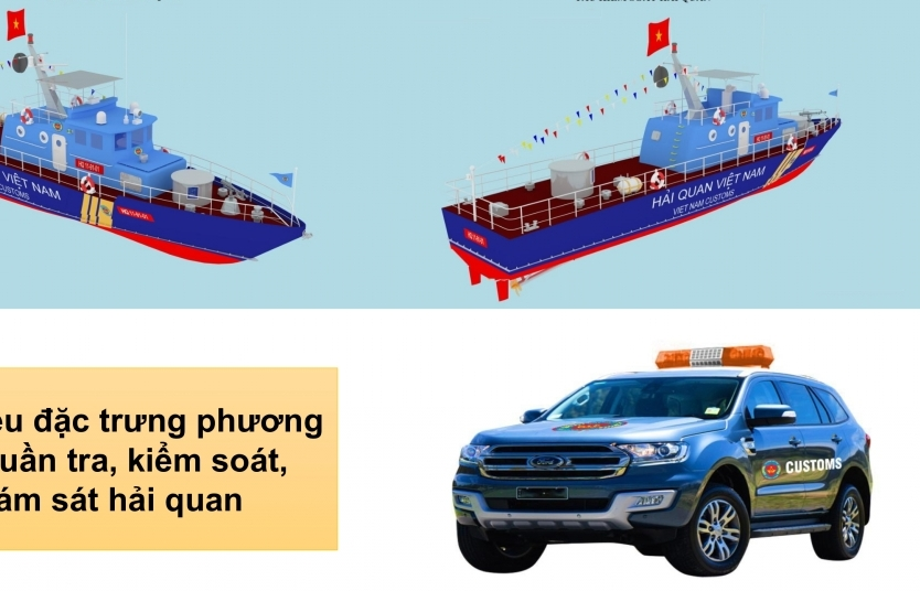 Sử dụng dấu hiệu đặc trưng của phương tiện tuần tra, kiểm soát, giám sát hải quan thế nào?
