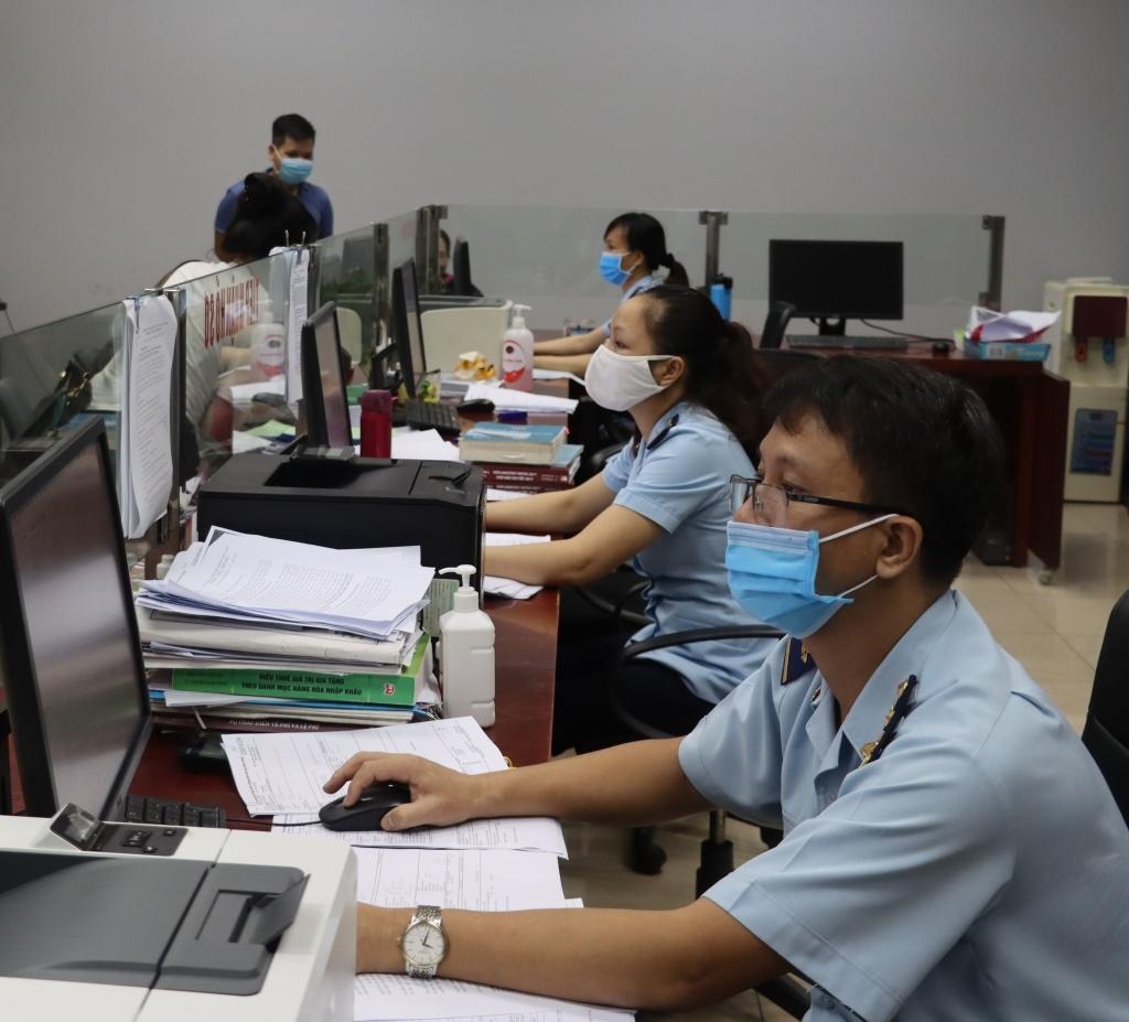 Công chức Hải quan cửa khẩu Kim Thành (Lào Cai) làm việc, sinh hoạt tại trụ sở