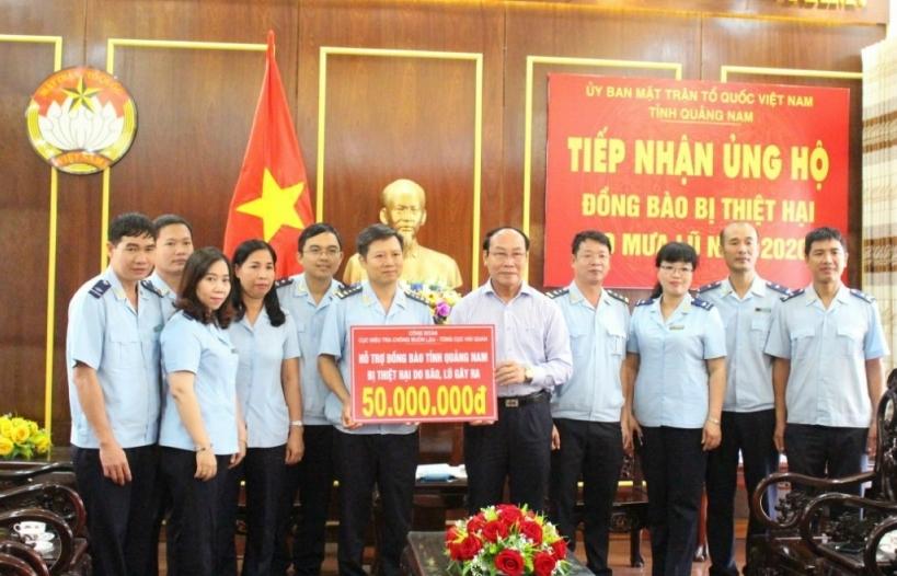 Cục Điều tra chống buôn lậu ủng hộ tỉnh Quảng Nam 50 triệu đồng