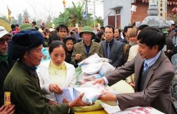 Hàng nghìn tấn gạo hỗ trợ nhân dân dịp Tết