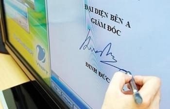 100% văn bản điện tử trên Trục liên thông văn bản quốc gia phải được ký số