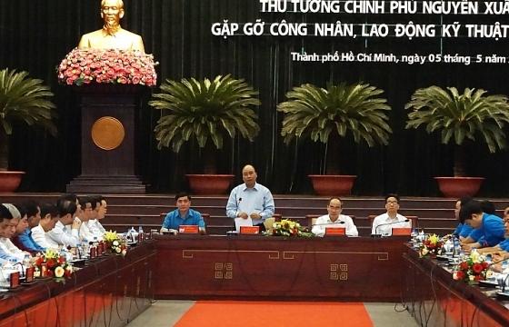 Thủ tướng Chính phủ gặp gỡ công nhân, lao động kỹ thuật cao năm 2019