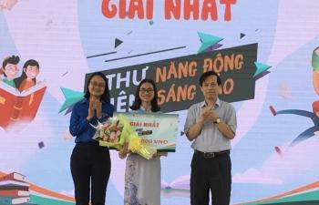 trao giai thuong hon 480 trieu dong cho cac thu vien truong hoc