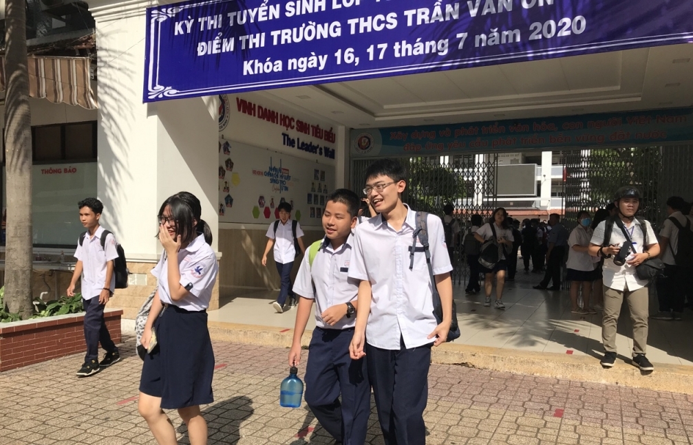 TPHCM: 554 thí sinh bỏ thi trong ngày đầu kỳ thi tuyển sinh lớp 10