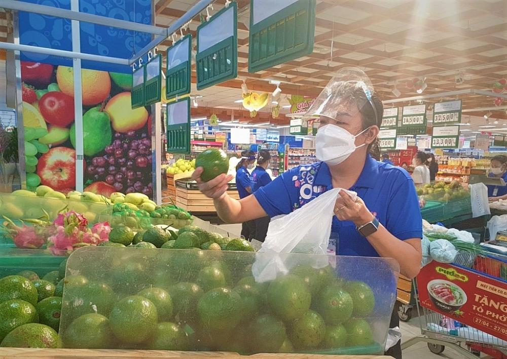 Nhiều mặt hàng nông sản được hệ thống siêu thị