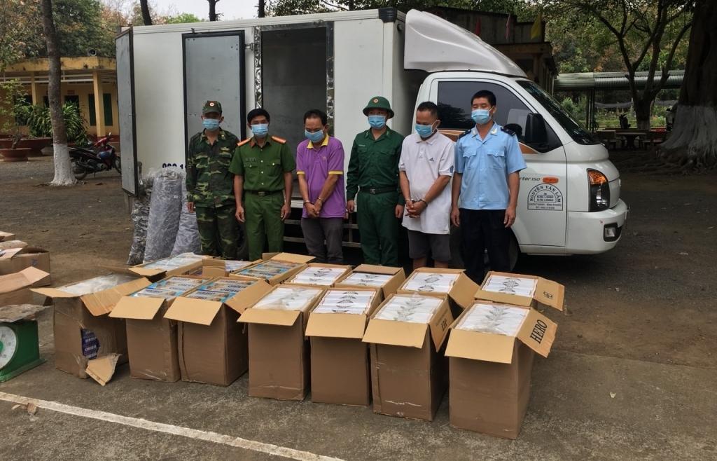 Bắt giữ gần 7.000 bao thuốc lá nhập lậu tại biên giới Bình Phước