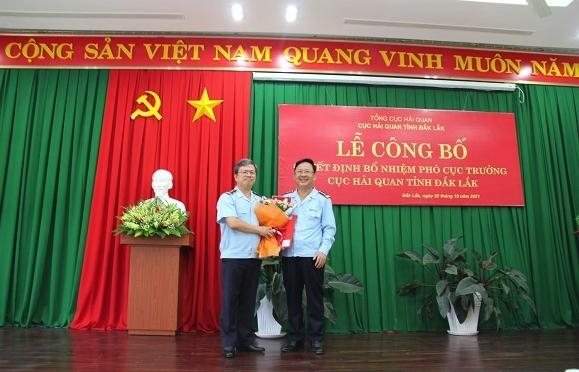 Công bố Quyết định bổ nhiệm Phó Cục trưởng Cục Hải quan Đắk Lắk