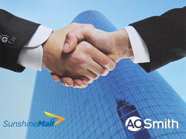 Sunshine Mall hợp tác phát triển cùng  A.O.Smith mang lại giá trị cho người tiêu dùng