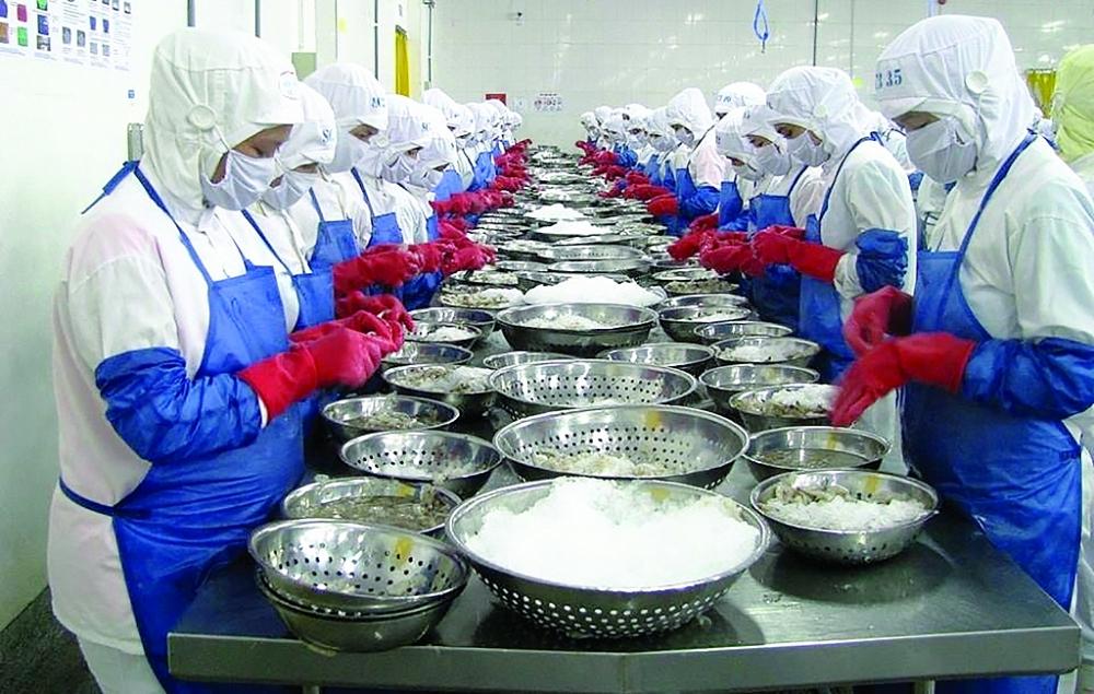 Thủy sản là một trong những ngành hàng điển hình tận dụng tốt cơ hội thúc đẩy XK từ Hiệp định EVFTA.  Ảnh: N.Thanh