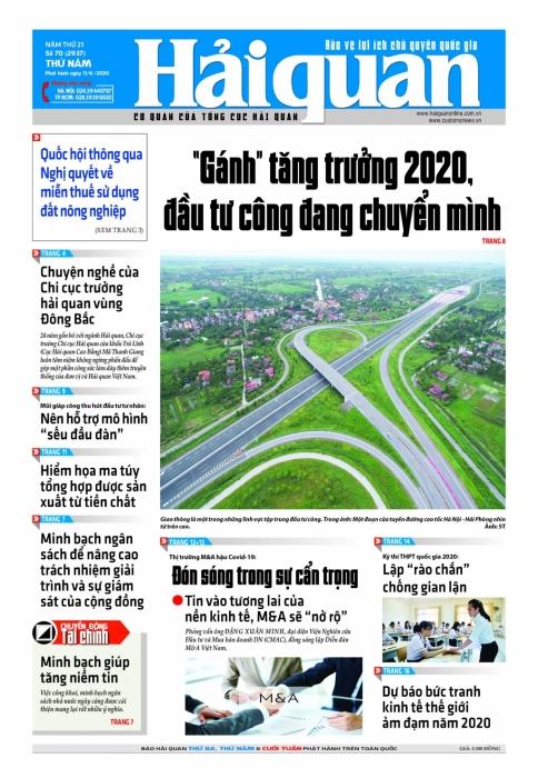 Những tin bài hấp dẫn trên Báo Hải quan số 70 phát hành ngày 11/6/2020.