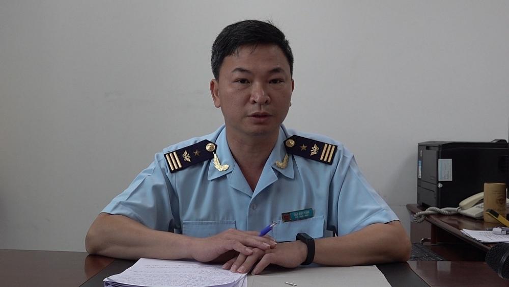 ông Đào Duy Tám, Phó Cục trưởng Cục Giám sát quản lý về hải quan.