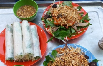 Nộm bò khô - món khoái khẩu ngày Đông Hà Nội