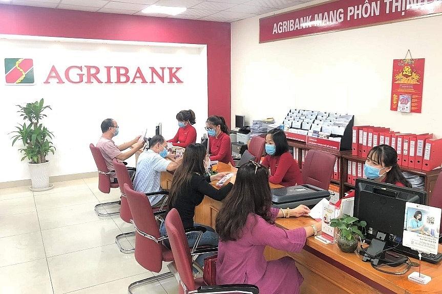 Khách hàng đang giao dịch tại Agribank Chi nhánh Thành phố Hồ Chí Minh.