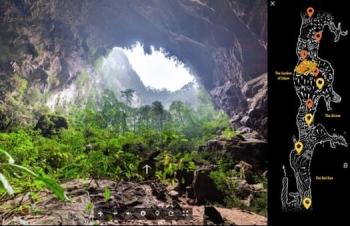 Hang Sơn Đoòng lọt top 10 địa điểm du lịch ảo hấp dẫn giữa mùa dịch