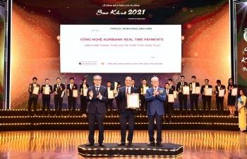 Agribank đạt Giải thưởng Sao Khuê năm 2021