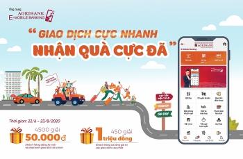 """""""Giao dịch cực nhanh – Nhận quà cực đã"""" cùng ứng dụng  Agribank E-Mobile Banking"""