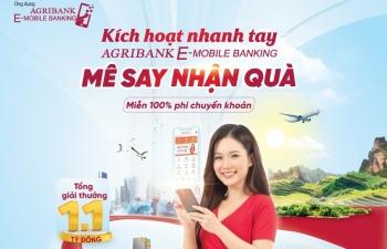 """""""Siêu ưu đãi"""" tháng 6 khi sử dụng ứng dụng Agribank E-Mobile Banking"""