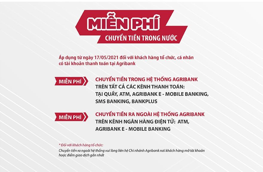 Agribank đồng loạt MIỄN, GIẢM các loại phí dịch vụ và lãi suất cho vay hỗ trợ khách hàng vượt qua đại dịch Covid-19.