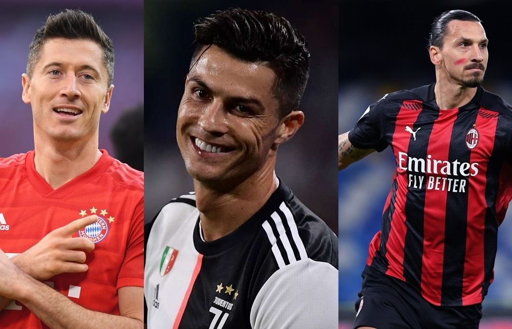"""Top 10 cầu thủ săn bàn tốt nhất năm 2020: Ibrahimovic và Messi """"hít khói"""" Ronaldo"""