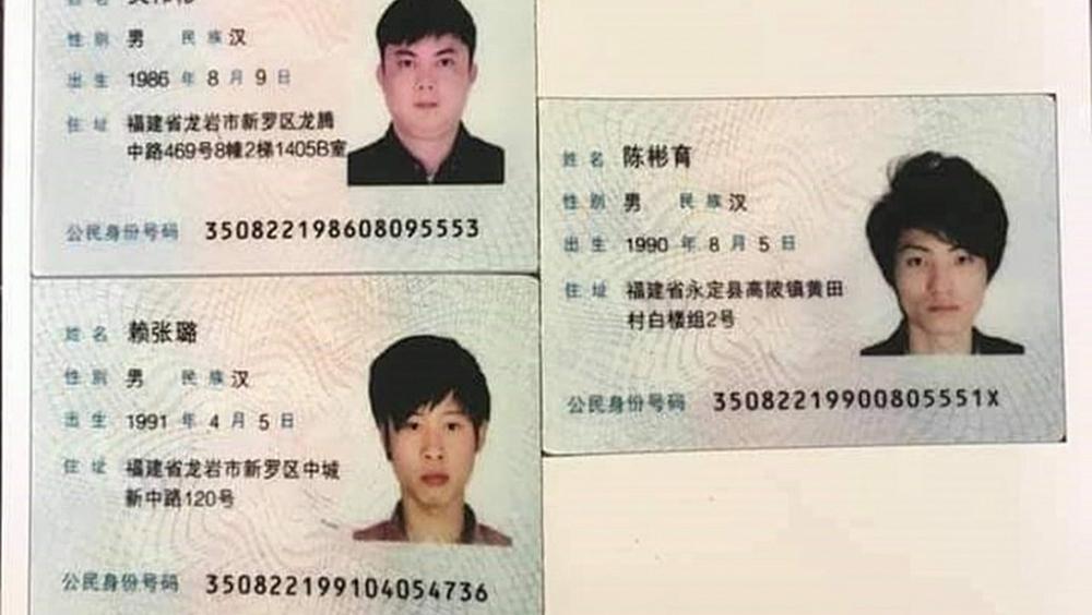 Ba người Trung Quốc vượt biên vào Việt Nam.