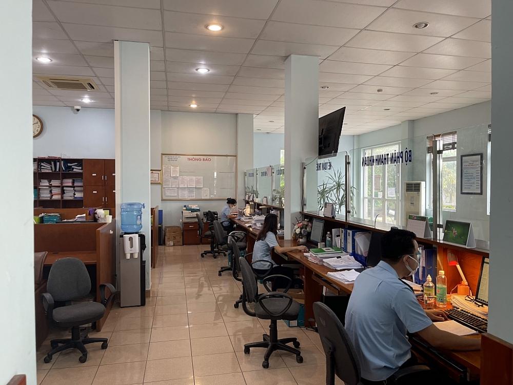 Hoạt động vụ tại Chi cục Hải quan quản lý các khu công nghiệp Bắc Giang hời điểm thiết lập vùng cách ly y tế.