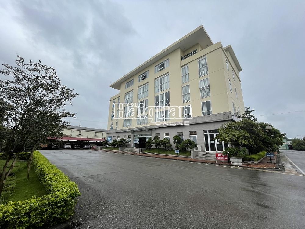 Thiết lập vùng cách ly y tế tại Chi cục Hải quan quản lý khu công nghiệp Bắc Giang.