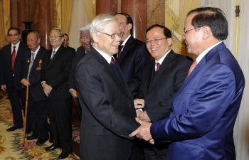 Tổng Bí thư, Chủ tịch nước chúc Tết các lãnh đạo, nguyên lãnh đạo