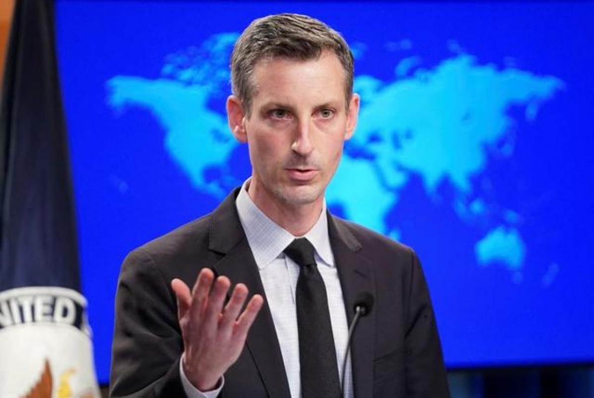 Phát ngôn viên Bộ Ngoại giao Mỹ Ned Price. Ảnh: Reuters