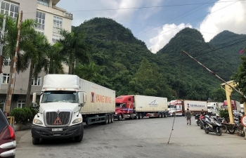 Tồn hơn 1.700 xe tại cửa khẩu giáp Trung Quốc, Lào, Campuchia