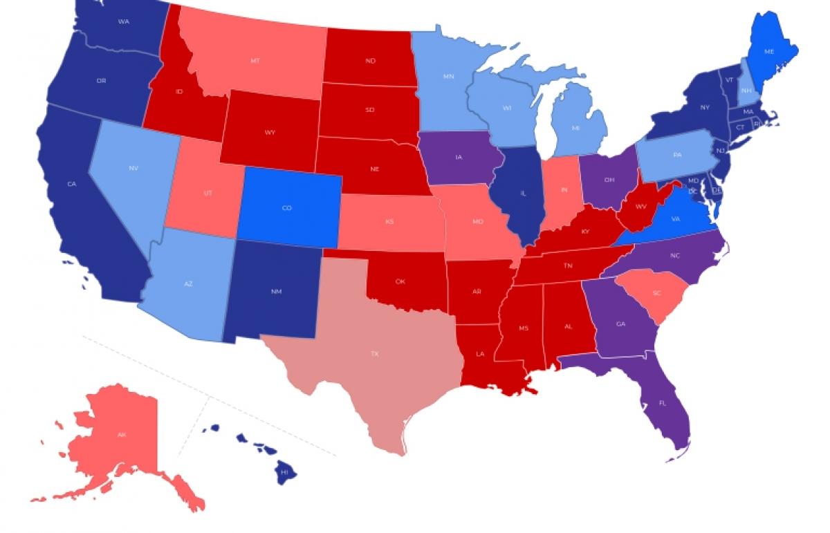 Bầu cử Mỹ: Những bang ông Trump buộc phải thắng để lách qua cánh cửa hẹp