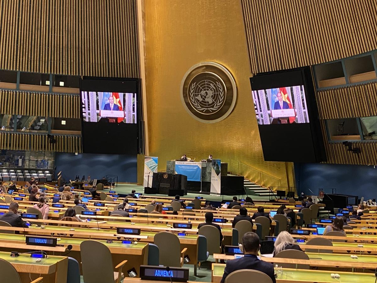 Đại hội đồng (ĐHĐ) Liên Hợp Quốc (LHQ) Khóa 75 đã tổ chức Phiên họp đặc biệt về ứng phó Đại dịch COVID-19.