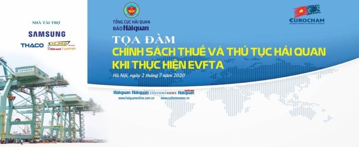 """Báo Hải quan phối hợp EuroCham tổ chức tọa đàm """"Chính sách thuế và thủ tục hải quan khi thực hiện EVFTA"""""""