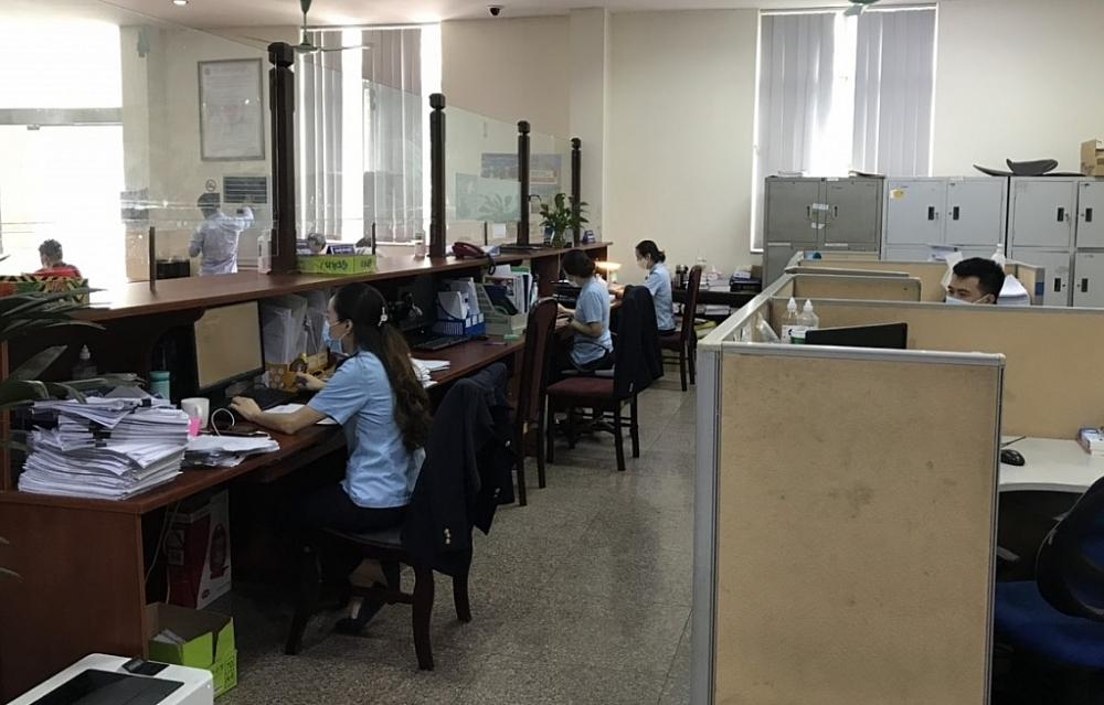 Hoạt động nghiệp vụ tại Chi cục Hải quan Bắc Hà Nội.