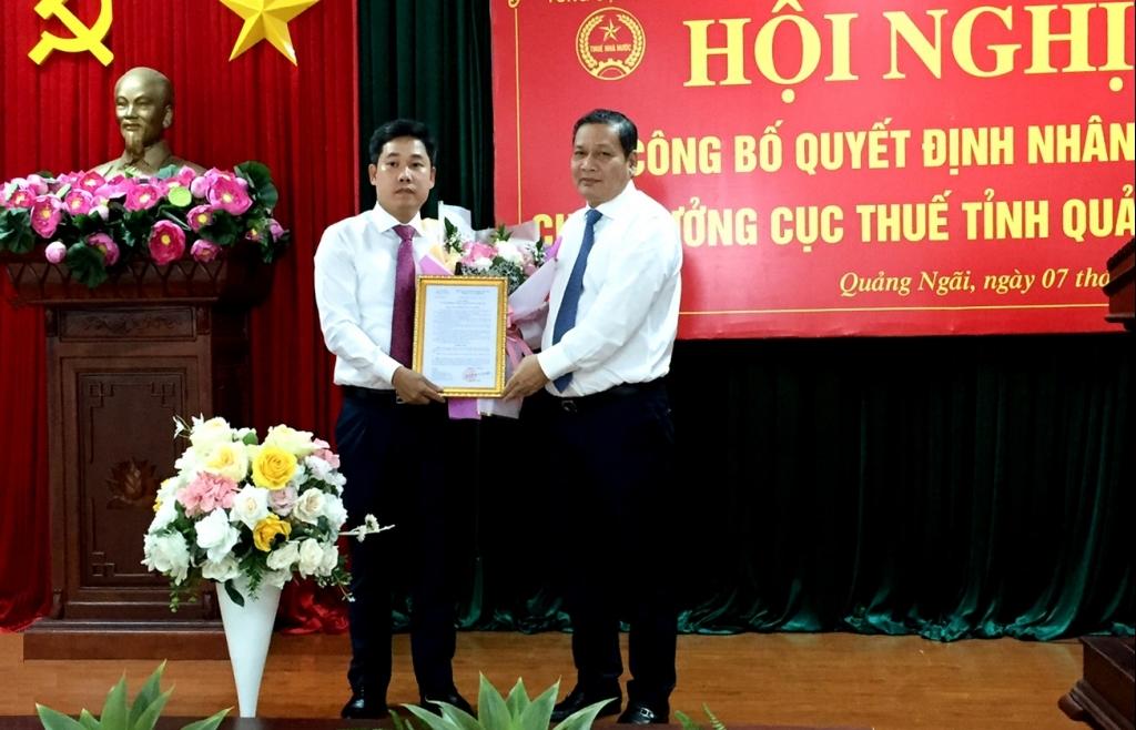 Bổ nhiệm ông Bùi Khánh Toàn làm Cục trưởng Cục Thuế Quảng Ngãi