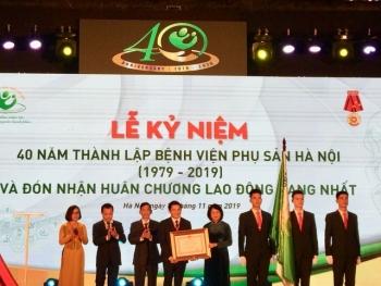 BV Phụ sản Hà Nội nhận Huân chương Lao động hạng Nhất