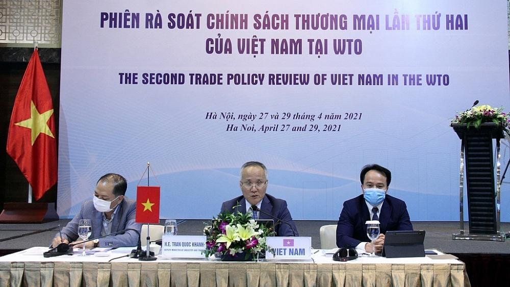 Trưởng đoàn Việt Nam phát biểu tại phiên rà soát.