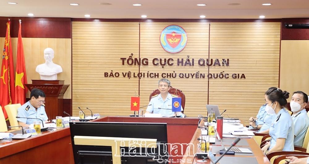 Phó Tổng cục trưởng Tổng cục Hải quan Mai Xuân Thành đại diện Hải quan Việt Nam tham dự hội nghị. Ảnh: H.Nụ